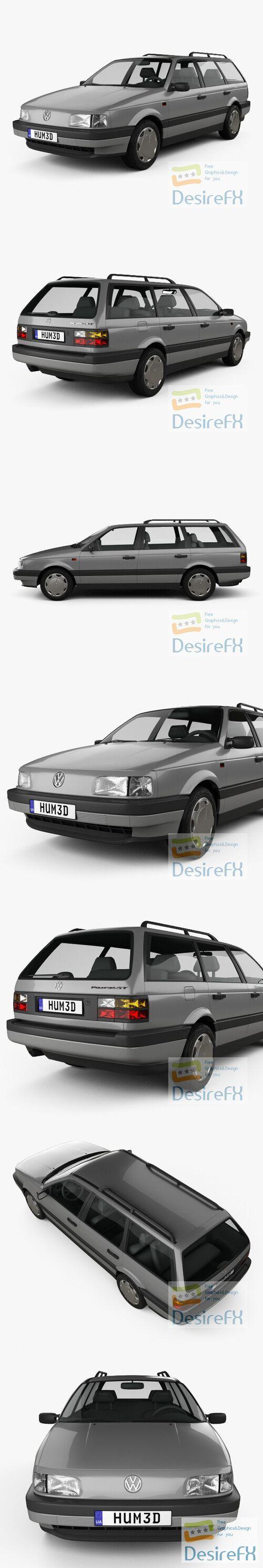 Volkswagen Passat variant 1988 3D Model