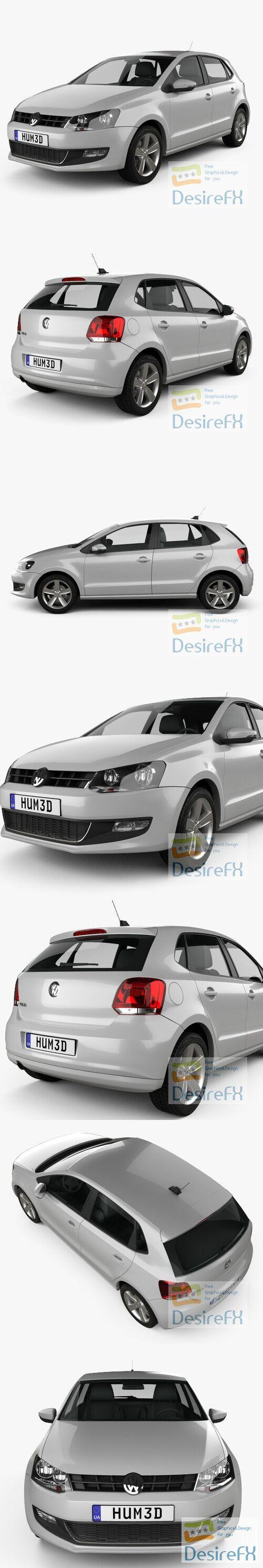 Volkswagen Polo 5-door 2010 3D Model