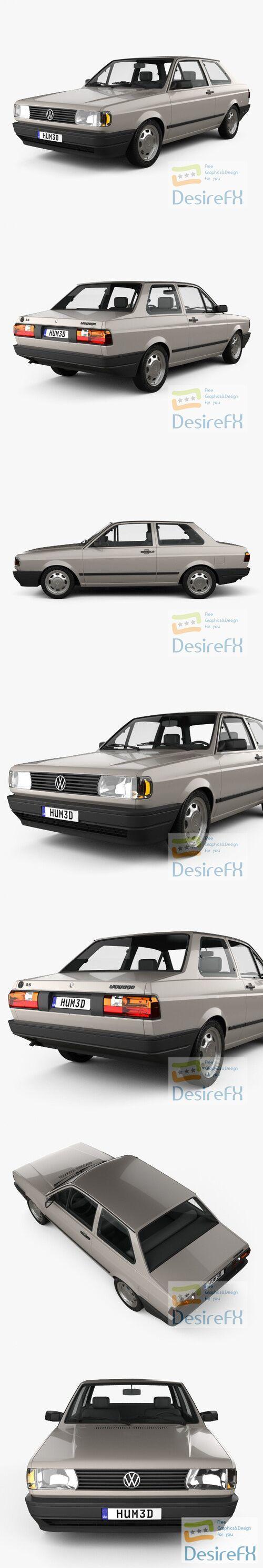 Volkswagen Voyage 2-door 1992 3D Model