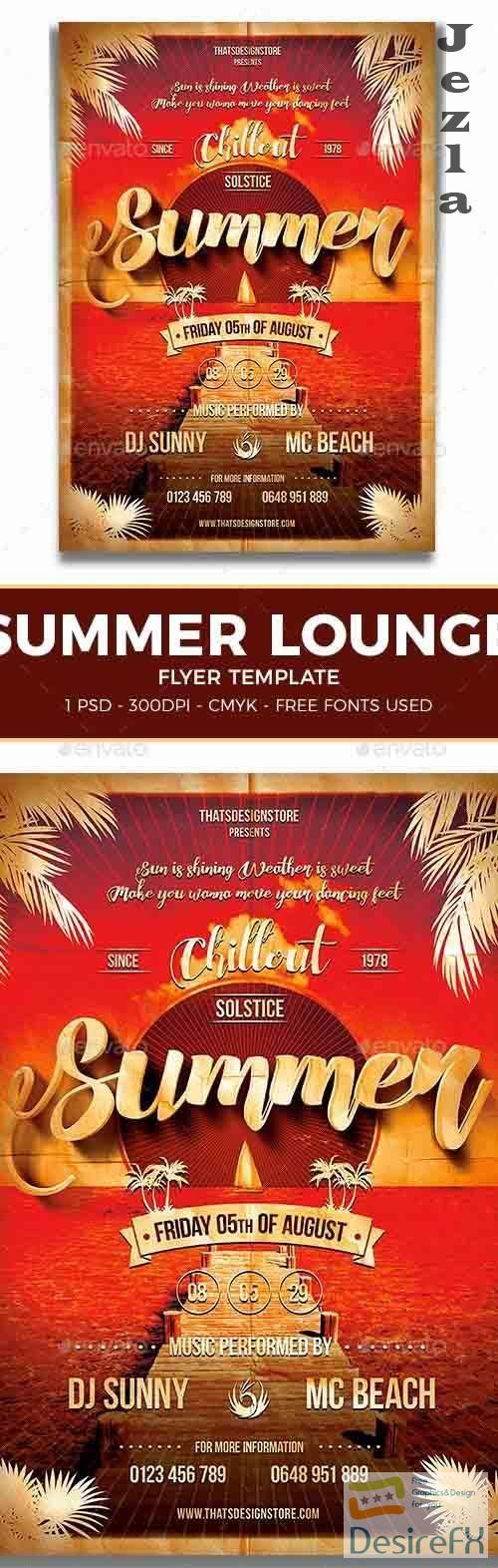 Summer Lounge Flyer Template V1 - 7972361 - 91166