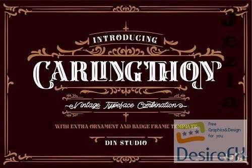 Download Download Carlingthon Vintage Font Pack 5200814 | DesireFX.COM
