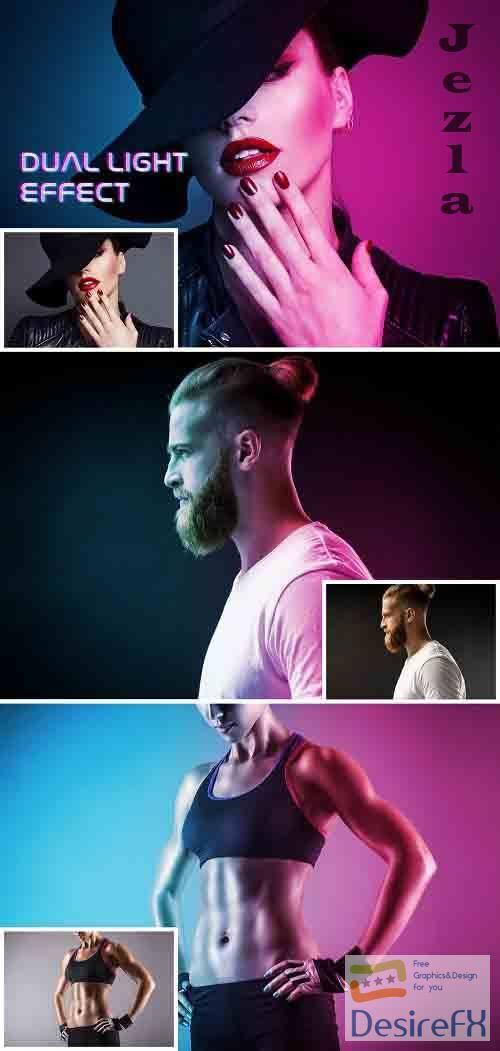 Dual Light Photo Effect Mockup 364810784