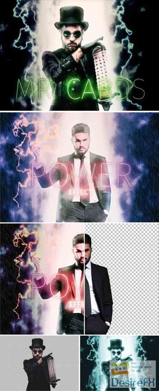 Comic Book Super Hero Back Light Effect 362938669