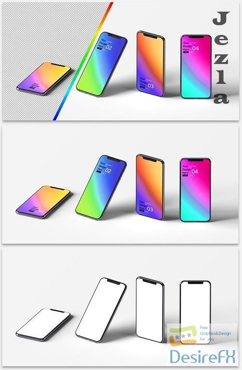 Mockup of 4 Smartphones 364770924