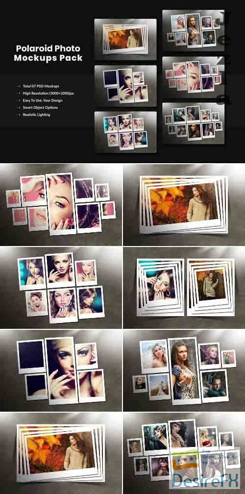 Polaroid Photo Mockups Pack