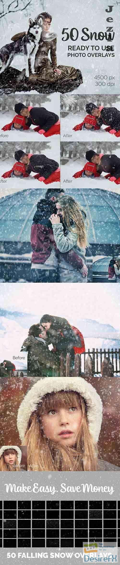 50 Falling Snow Photo Overlays  - 27017662