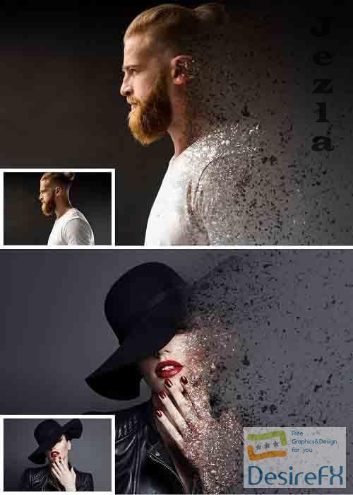Dispersion Photo Effect Mockup 364810720