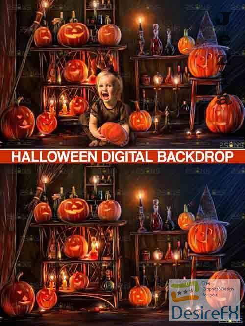 Halloween Backdrop Halloween digital overlay, photoshop - 735878