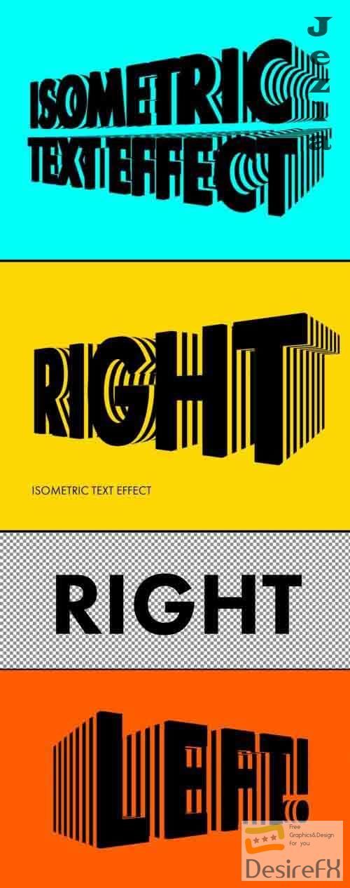 Isometric Text Effect 362937580