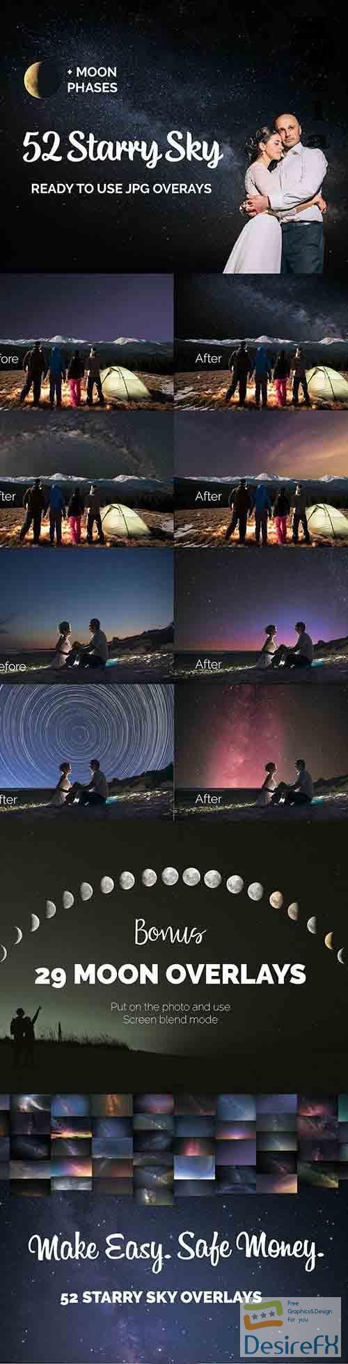 52 Starry Sky Photo Overlays - 27017653