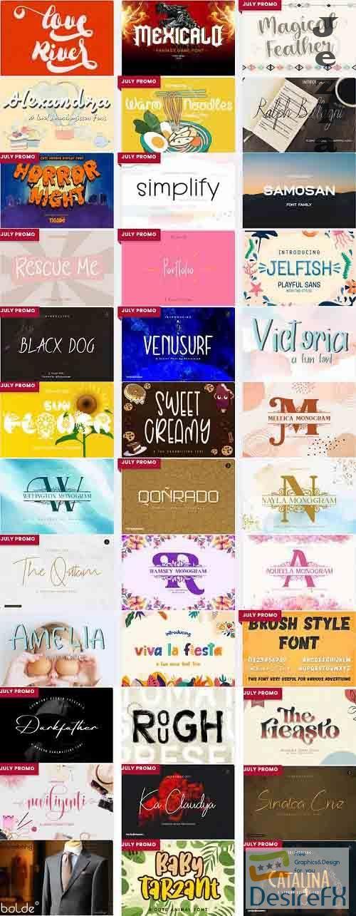 Mix Font Bundle 8 - 36 Premium Fonts