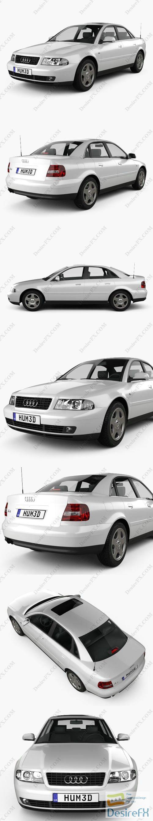 Audi A4 Sedan 1999 3D Model