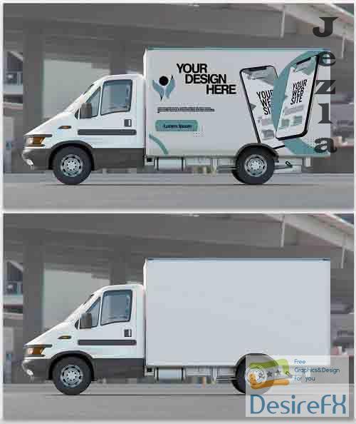 Mockup of a Truck Billboard 364772128