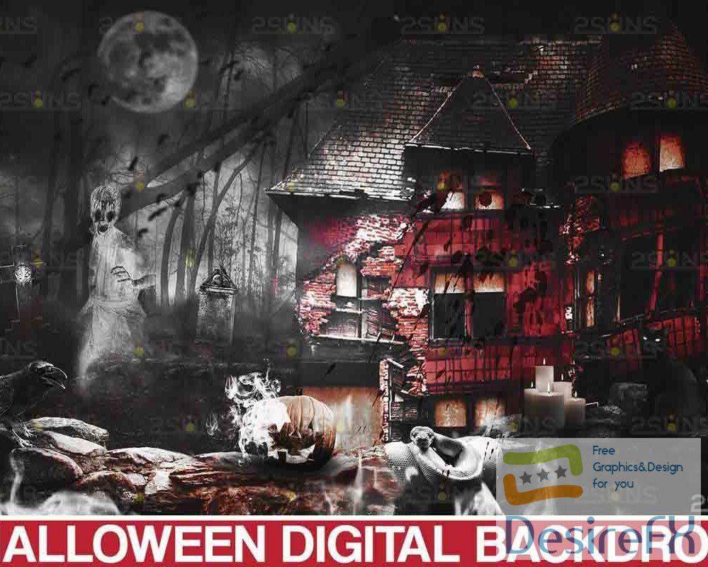 Halloween Backdrop & Scary Photoshop overlay - 735882