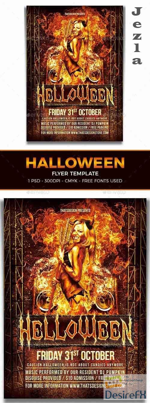 Halloween Flyer Template V3 - 8537240 - 91498