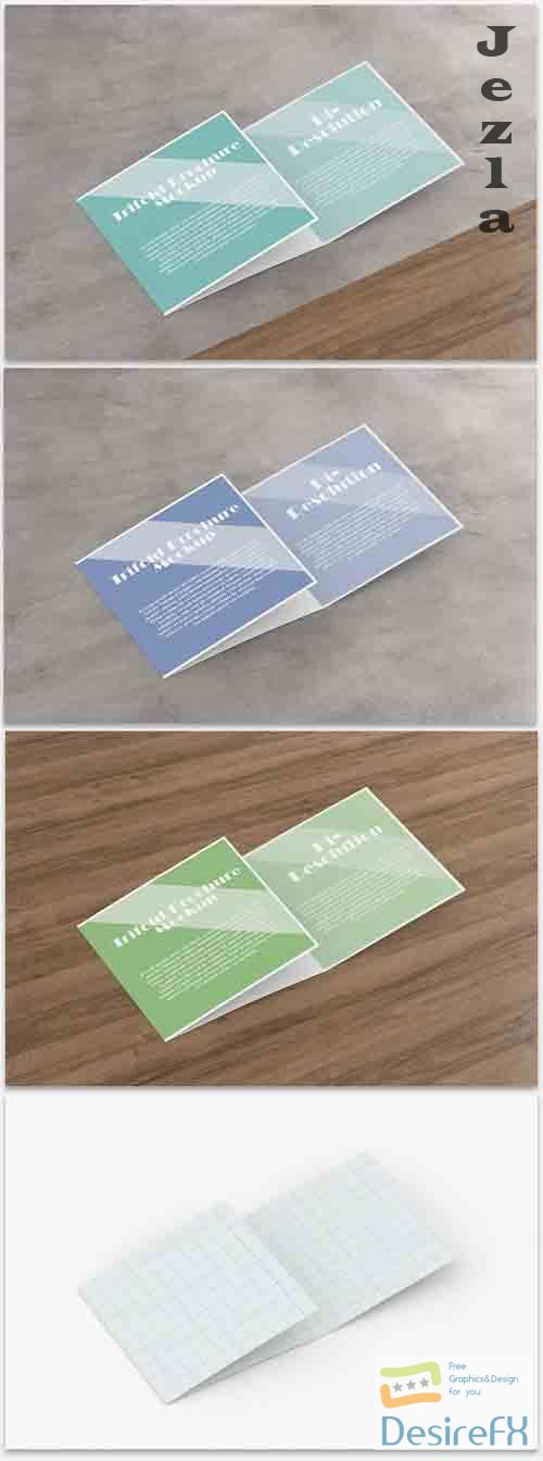 Mockup of a Trifold Brochure 364772516