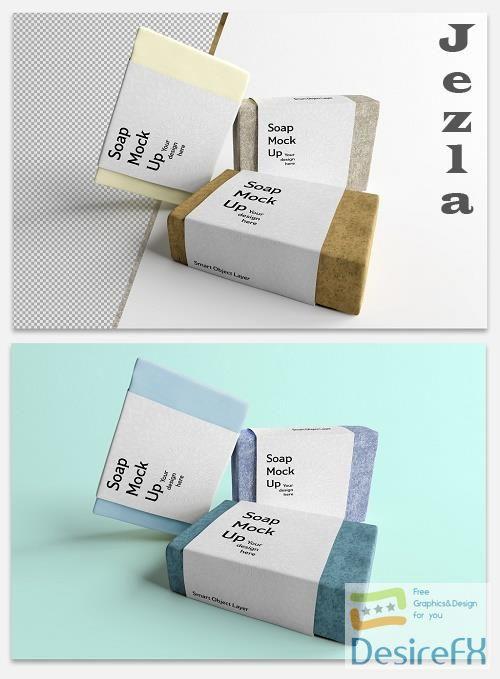Mockup of Soap Cosmetic Bar Packaging 364770299