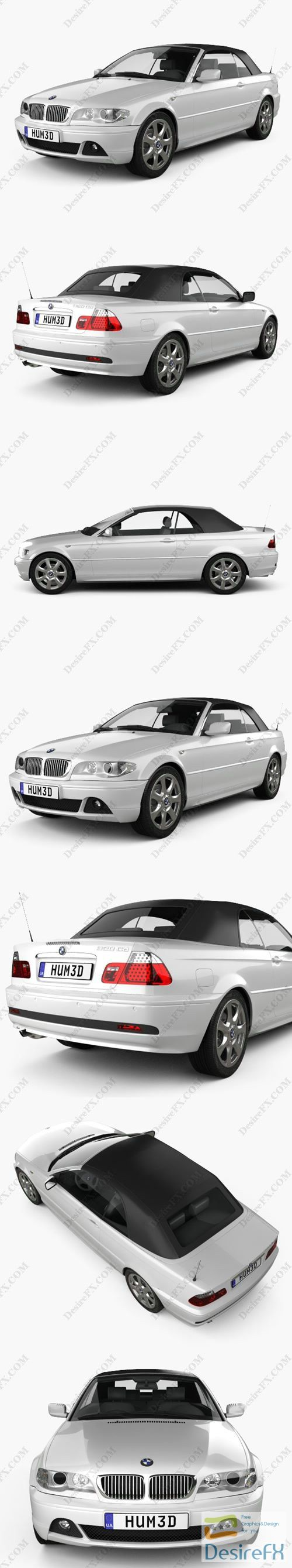 BMW 3 Series convertible 2004 3D Model