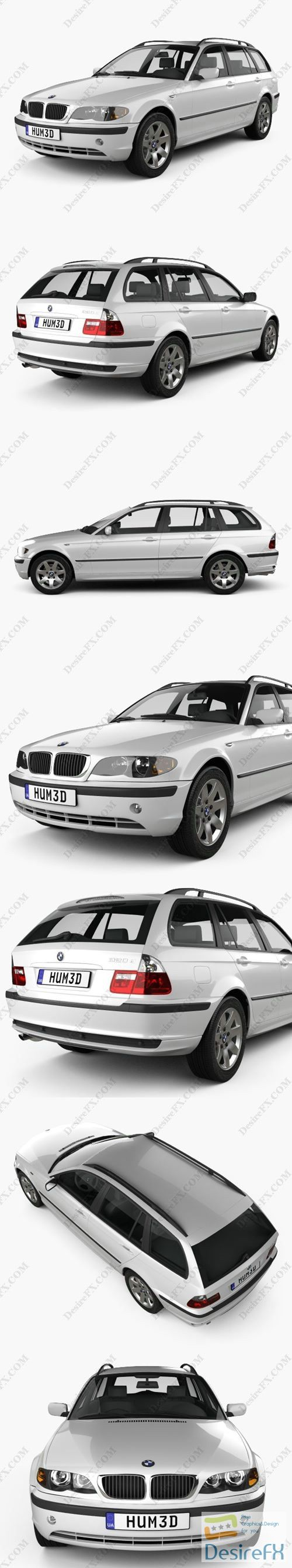 BMW 3 Series touring 2001 3D Model