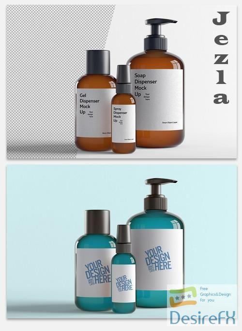 Mockup of Bottle Cosmetics 364770124