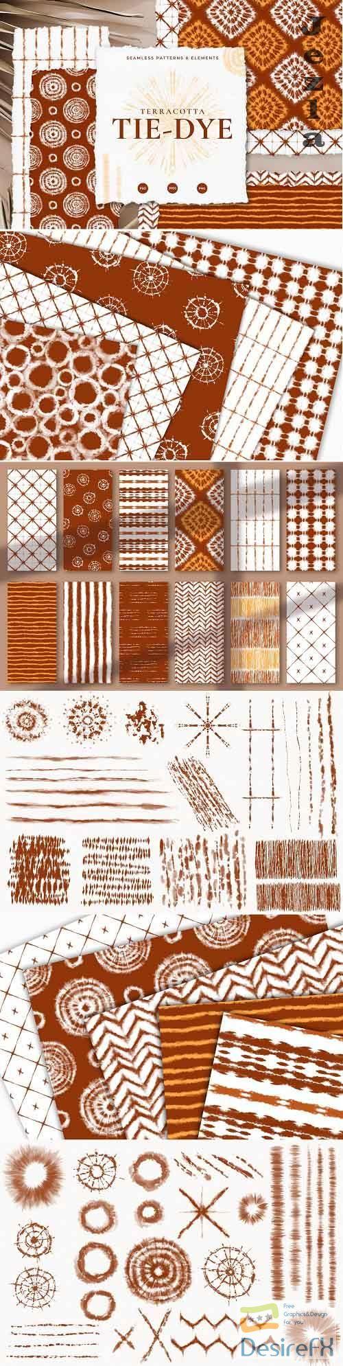 Seamless Terracotta Tie-Dye Patterns - 5157630