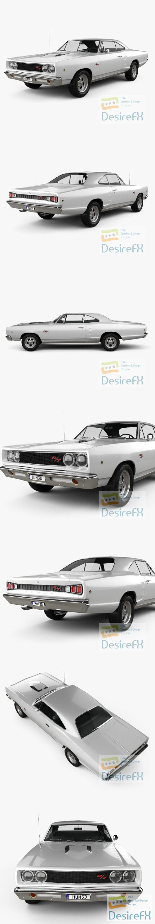 Dodge Coronet RT Coupe 1968 3D Model