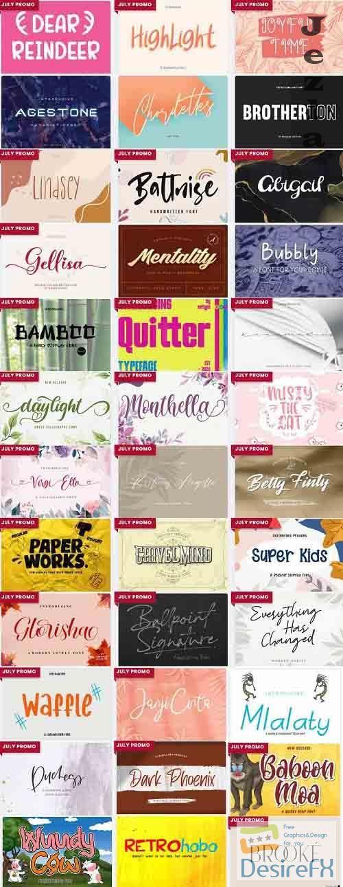 Mix Font Bundle 7 - 36 Premium Fonts