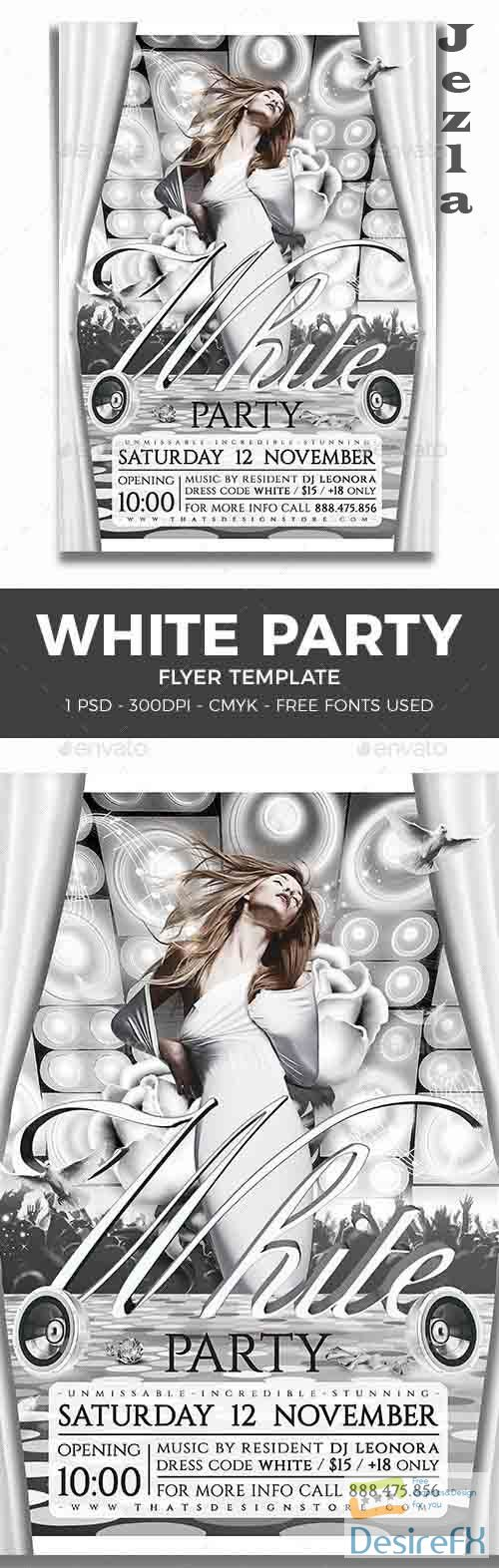 White Party Flyer Template V1 - 8282221 - 91424