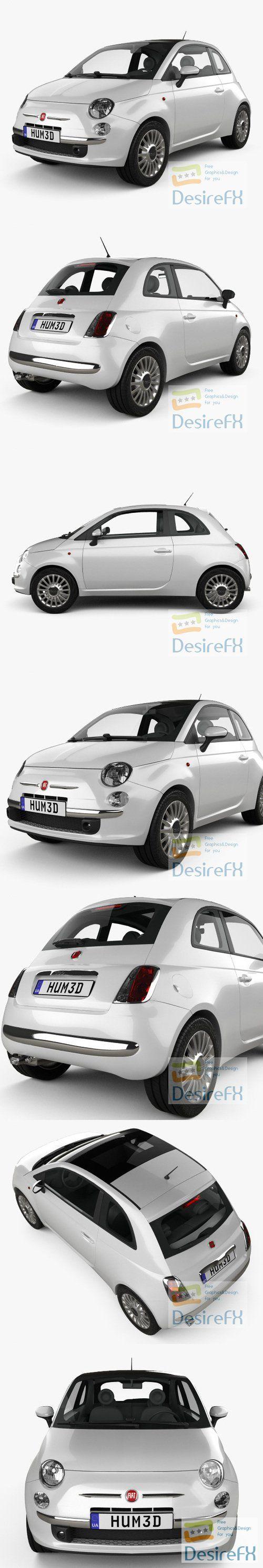 Fiat 500 2010 3D Model