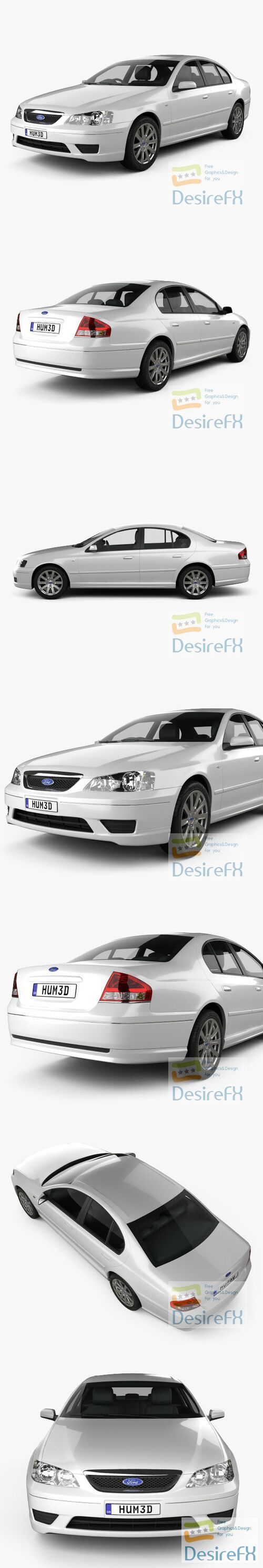 Ford Falcon Fairmont 2005 3D Model