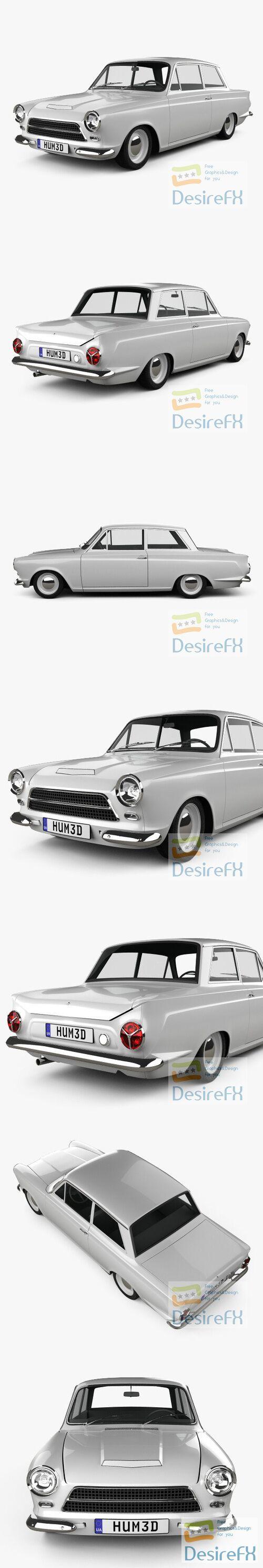 Ford Lotus Cortina 1963 3D Model