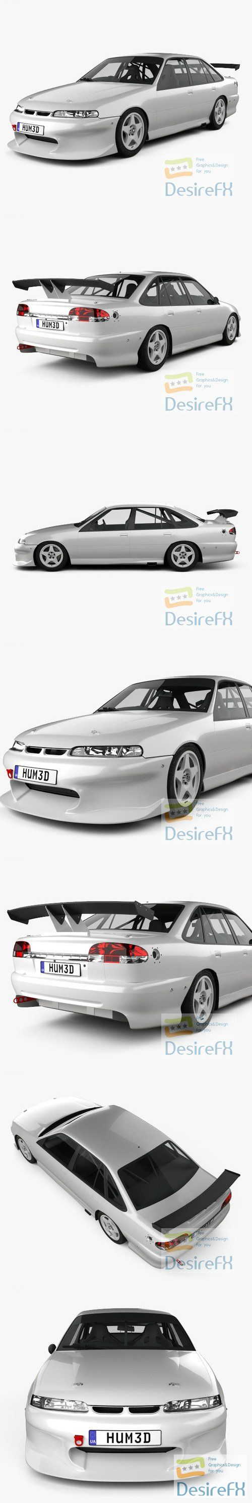 Holden Commodore Race Car 1993 3D Model