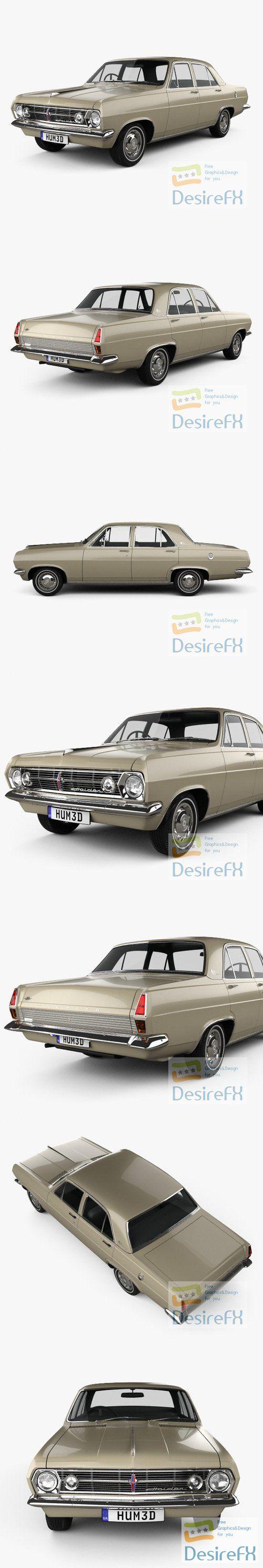 Holden HR Premier 1966 3D Model