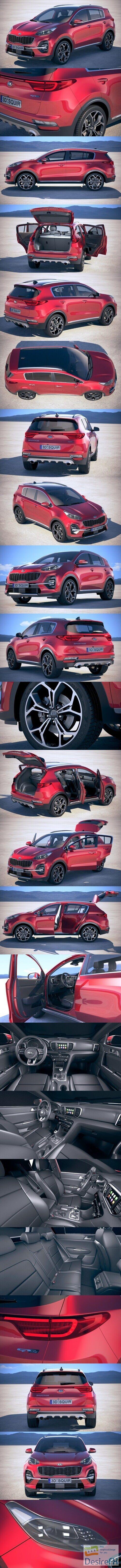 Kia Sportage with interior 2019 3D Model