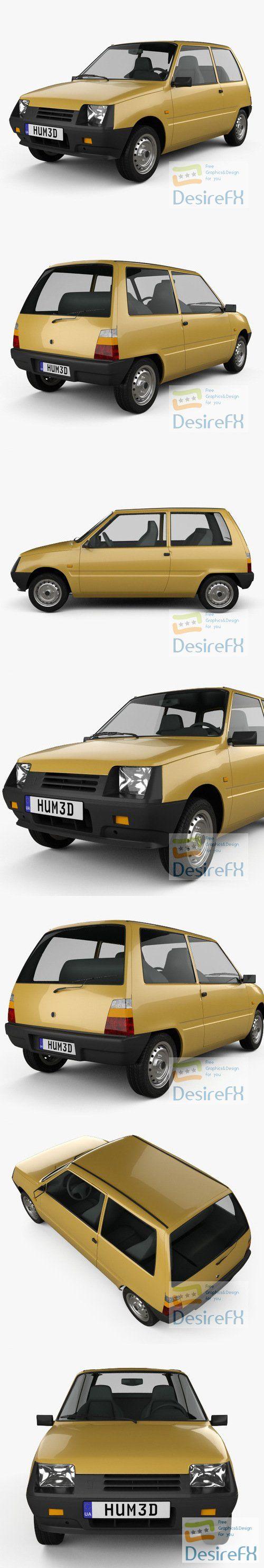 VAZ Oka 1111 1989 3D Model