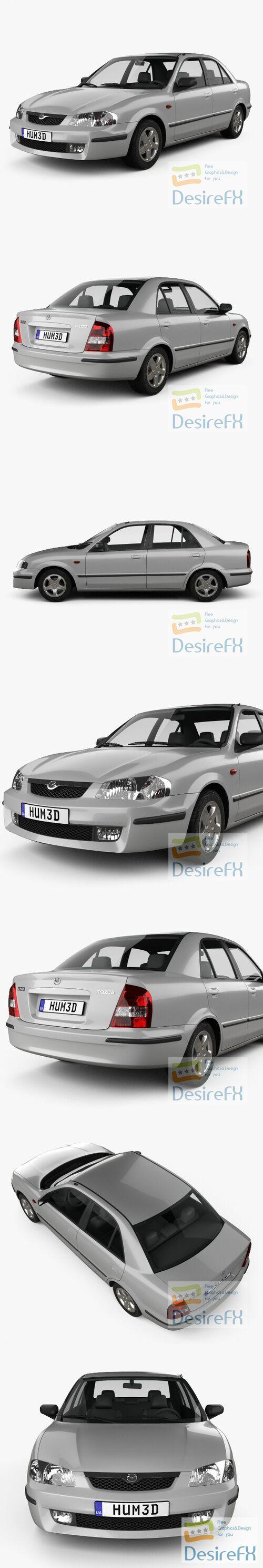 Mazda Familia 1998 3D Model