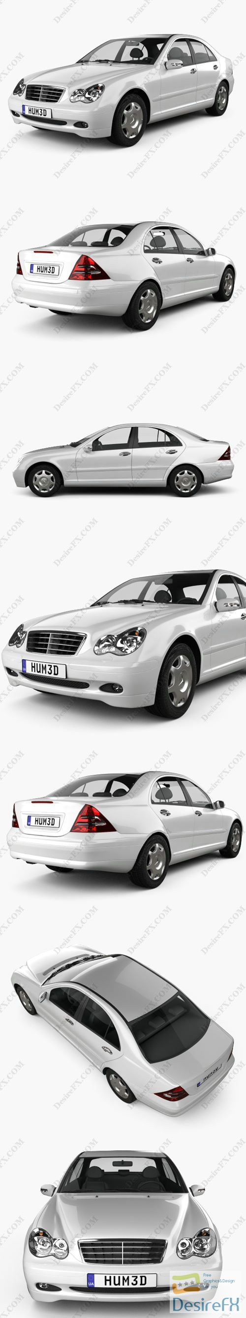 Mercedes-Benz C-class sedan 2005 3D Model