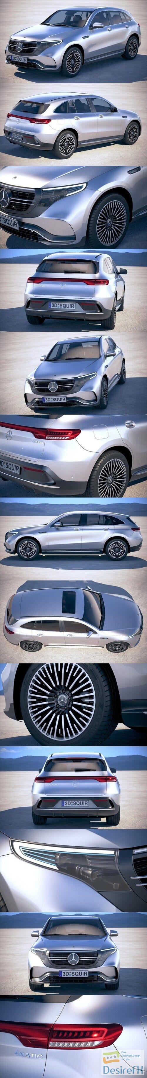 Mercedes-Benz EQC AMG 2020 3D Model