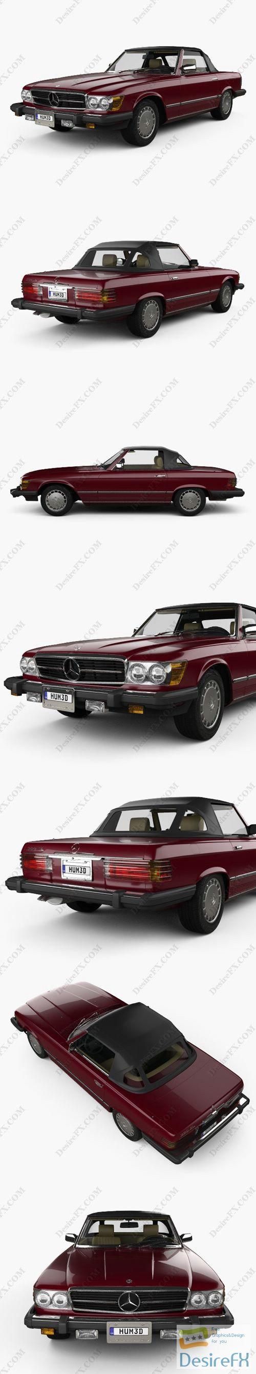 Mercedes-Benz SL-Class 1974 3D Model