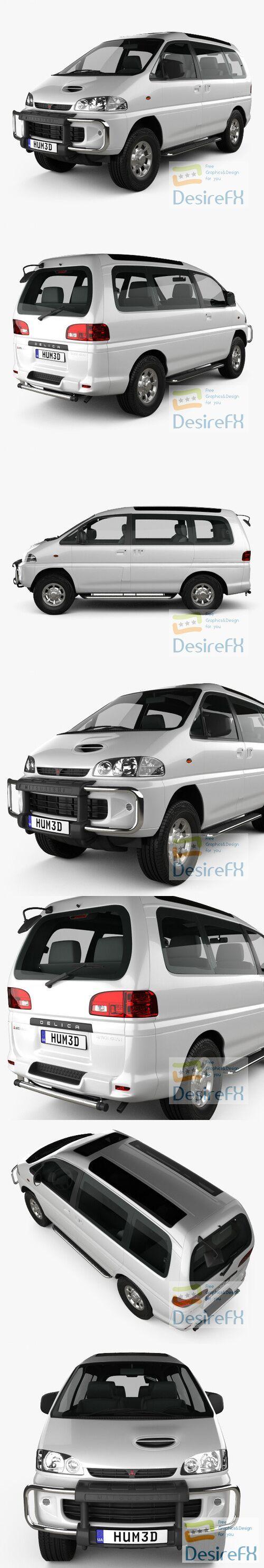 Mitsubishi Delica Space Gear 4WD 1994 3D Model