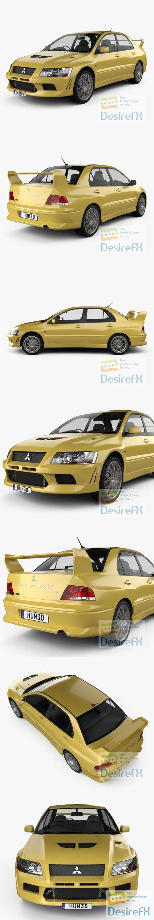 Mitsubishi Lancer Evolution 2001 3D Model