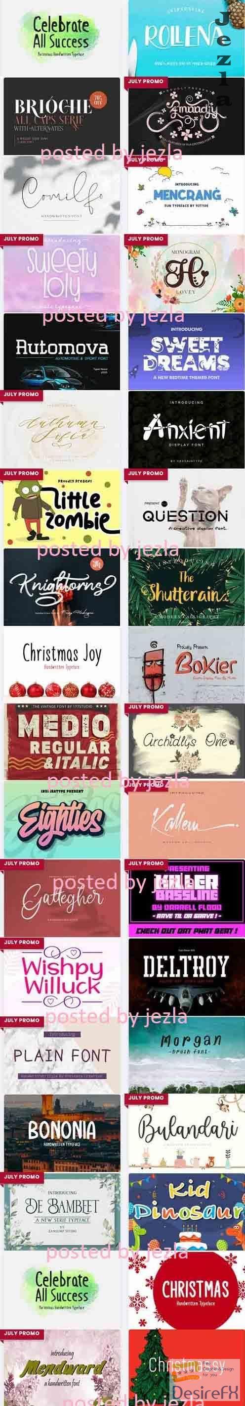 Mix Font Bundle 4 - 35 Premium Font