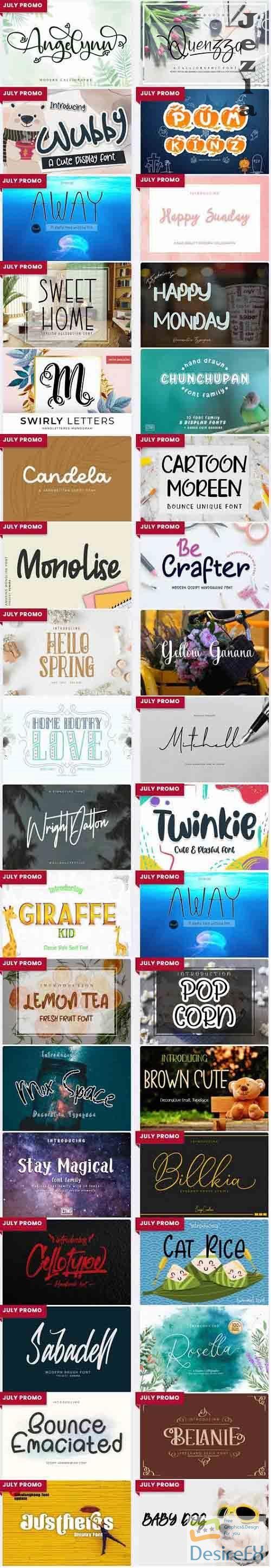Mix Font Bundle 6 - 36 Premium Fonts