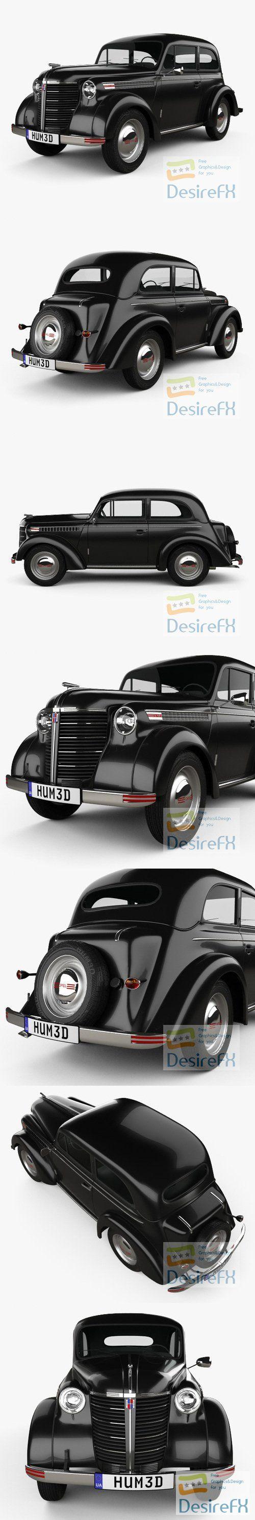 Opel Olympia 1938 3D Model