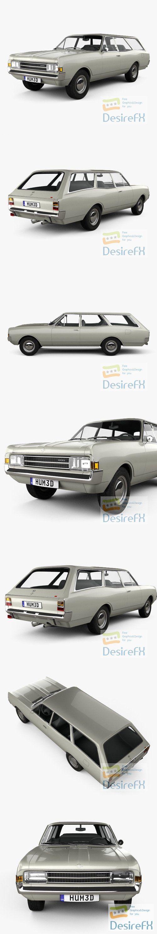 Opel Rekord Caravan 1967 3D Model
