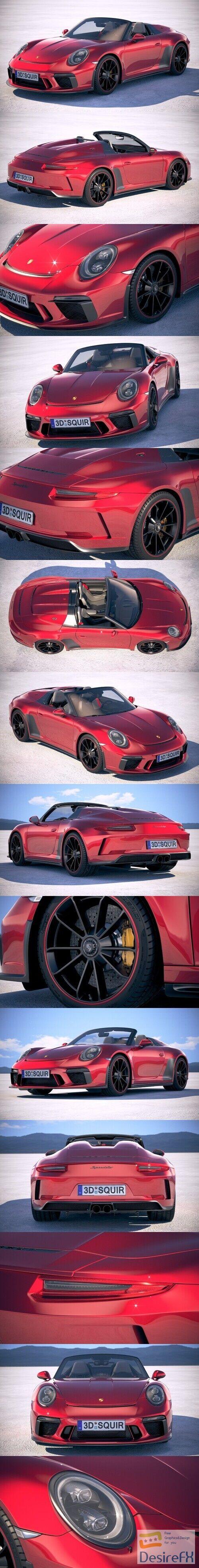 Porsche 911 Speedster 2019 3D Model