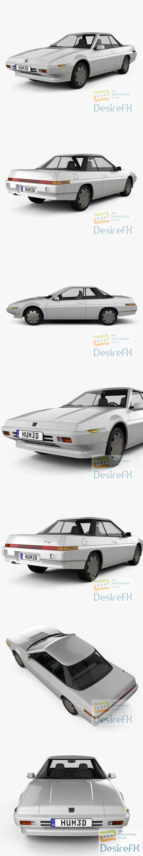 Subaru XT 1985 3D Model