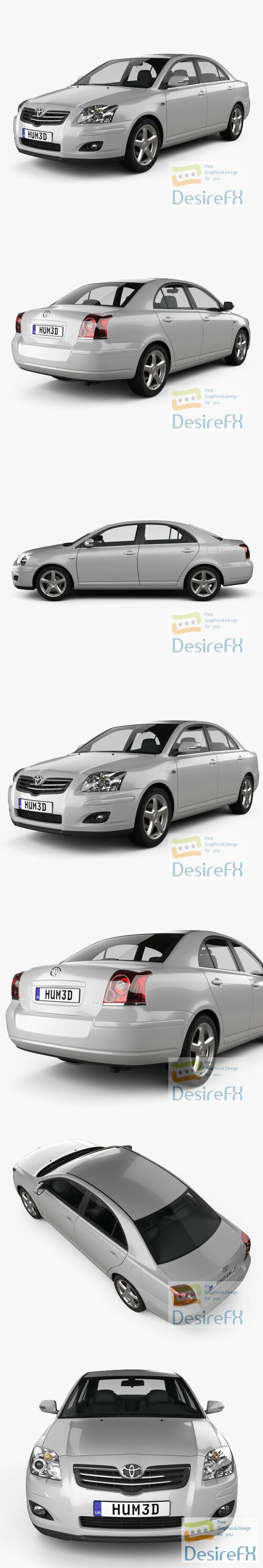 Toyota Avensis sedan 2006 3D Model