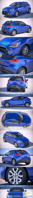 Toyota Yaris Hatchback US 2020 3D Model