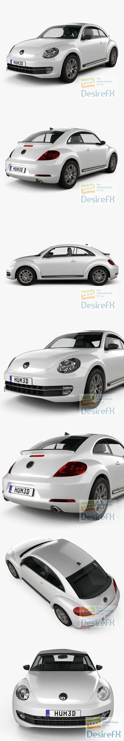 Volkswagen Beetle 2012 H3D 3D Model